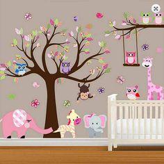 Bebé grande vivero forestal pared etiqueta por RockyMountainDecals