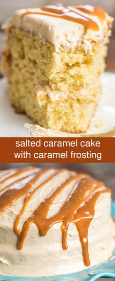 Deep, buttery-flavored brown sugar cake is the base of this from-scratch salted caramel cake. Top with homemade salted caramel frosting. Salted Caramel Cake {From-Scratch Cake with Caramel Frosting} via @thebestcakerecipes