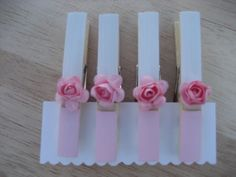 clothespins shabby chic by chicbettyandbea on Etsy, $5.00