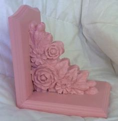 Cottage Shabby Pink Roses Decorative Bookend Book End | eBay