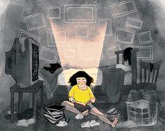 Существует определенная магия, которая происходит каждый раз, когда мы читаем (иллюстрация Jameela Wahlgren)