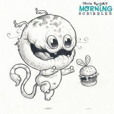 Burger Bug! #morningscribbles