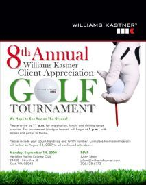 2009 golf tournament invitation