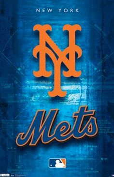 New York Mets MLB Baseball Official Team Logo Poster - Costacos Sports Inc. New York Mets Logo, New York Mets Baseball, Baseball Art, New York Jets, Baseball Quotes, Sports Team Logos, Sports Teams, Sports Posters, Usa Sports