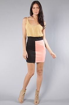 The Jenna Dress in Colour Block by Motel   Karmaloop.com - Global Concrete Culture - StyleSays