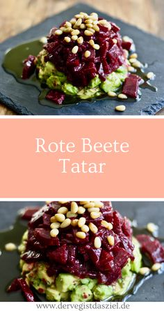 Rote Beete Tatar Rote Bete Tatar Rote Beete Rote Bete Rezept vegan glutenfrei The post Rote Beete Tatar mit Avocado appeared first on Tasty Recipes. Healthy Snacks To Buy, Healthy Meal Prep, Healthy Dessert Recipes, Healthy Dinner Recipes, Breakfast Recipes, Healthy Eating, Vegetarian Recipes, Breakfast Healthy, Snacks Recipes