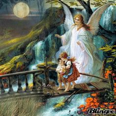 Schutzengel für alle Kinder - Guardian angel for all children Dark Angels, Angel Pictures, Angels Among Us, Beautiful Gif, Animation, Guardian Angels, Fantasy, Blessing, Animated Gif
