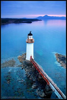 Eilean Bhan lighthouse at dusk - Kyleakin, Highland http://www.vacationrentalpeople.com/vacation-rentals.aspx/World/Europe/UK/Scotland/Highlands-and-Skye/