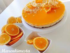 Marenkimesta: Appelsiini, kookos-valkosuklaa juustokakku Panna Cotta, Cheesecake, Goodies, Pudding, Ethnic Recipes, Desserts, Food, Kite, Pineapple