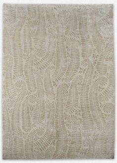 Ferns (White) rug - Luke Irwin