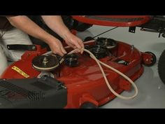 How to re wire a riding lawn mower tips pinterest riding this video provides step by step repair instructions for replacing the drive belt or v belt on a craftsman riding lawn mower the most common reason for fandeluxe Image collections