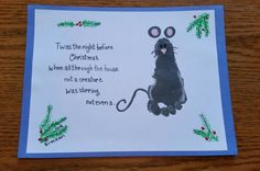 """Kids """"Twas the night before Christmas"""" mouse project."""