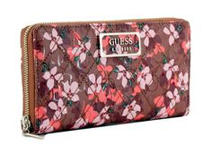 Geldtasche Blumenmuster Guess Lola SLG Floral rosa pink Floral Rosa, Emblem, Clutch, Pink, Bags, Fashion, See Through, Light Rose, Pocket Wallet