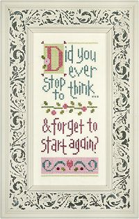 did you ever stop to think giggle boxer cross stitch kit - lizzie kate - for my mom