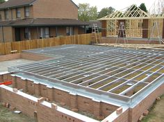 Spantec Steel Ground Floor on Fully Engaged and isolated brick Piers