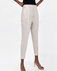 LINEN TROUSERS WITH DARTS from Zara