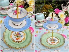 China Plate Cake or Jewelry Stand