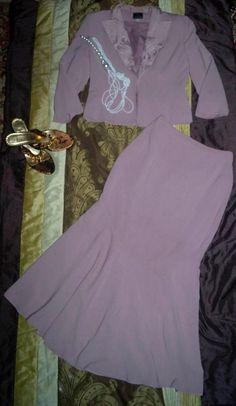 Elegancka garsonka kostium wrzosoa 38-40 (5151816307) - Allegro.pl - Więcej niż aukcje.