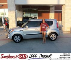 #HappyAnniversary to Monica Somers on your 2013 #Kia #Soul from Larry Upton at Southwest KIA Rockwall!