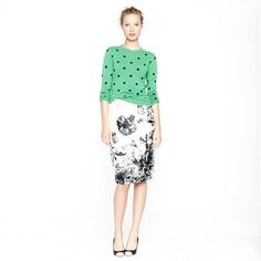jcrew  Collection pencil skirt in photo floral  but you can design your own for a lot less that $600 bucks