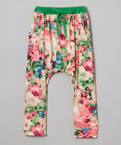 Pink Floral Harem Pants - Infant, Toddler & Girls by Leighton Alexander #zulily #zulilyfinds