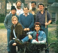 Auf Wiedersehen, Pet was a British comedy-drama television programme about seven British migrant construction workers. In the first series, the men lived and worked on a building site in Düsseldorf.  The lead roles were performed by Tim Healy, Kevin Whately, Jimmy Nail, Gary Holton, Christopher Fairbank, Pat Roach, and Timothy Spall.