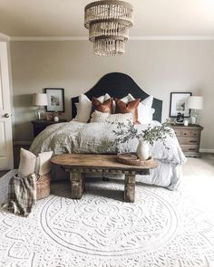 "Orian on Instagram: ""The farmhouse vibes of @houseon77th's bedroom have us swooning this Saturday evening! 🙌🏼 . . Click the link in our bio or tap to shop our…"""