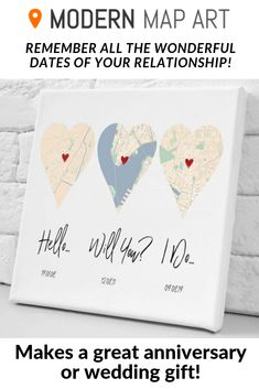Hello, Will You, I Do Custom Relationship Gift Remember the important dates of your relationship wtith our personalized Hello, Will You, I Do heart map! It makes an awesome wedding or anniversary gift Wedding Wishes, Our Wedding, Wedding Gifts, Dream Wedding, Wedding Anniversary, Anniversary Gifts, Anniversary Tattoo, Tattoos For Women On Thigh, Relationship Gifts