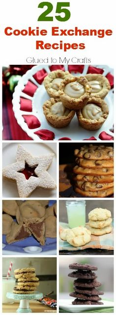 "25 Cookie Exchange Recipes {Roundup} Elvis tarts and red velvet shortbreads under ""recipe"" on sidebar"