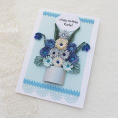 Paper Quilling Card Paper Quilled by EnchantedQuilling on Etsy, $7.50