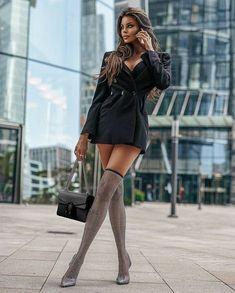 Latest Fashion For Women, Trendy Fashion, Fashion Beauty, Fashion Outfits, Womens Fashion, Fasion, Bbg, Black Prom Dresses, Cute Dresses