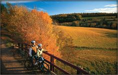 The Confederation Trail runs end to end of Prince Edward Island, Canada