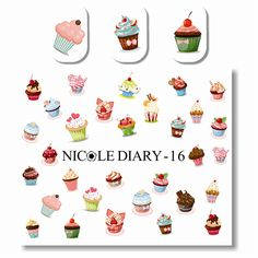 NICOLE DIARY Nail Art Water Tattoo Design Multifarious Ice Cream Sheet on Fingers Nail Art Water Decals 25950 #>=#>=#>=#>=#> Click on the pin to check out discount price, color, size, shipping, etc. Save and like it!