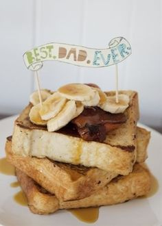 Banana waffles, anyone? Surprise Dad with his favorite breakfast on Father's Day.