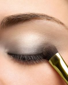 Light Grey Eye Makeup is perfect for brown eyes.