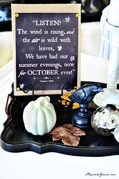 With an autumn quote, chalkboard background, and burlap canvas, could this print be any more adorable?'