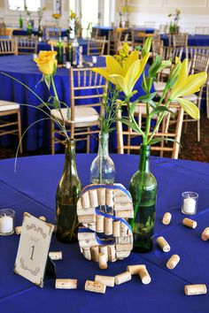 The Eventful Gals I The Riverhouse I Saint Augustine Weddings I Wine Infused Theme I Blue and Yellow  www.TheEventfulGals.com