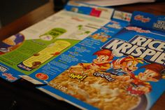 Make cereal boxes into mailers or just about anything that needs storing