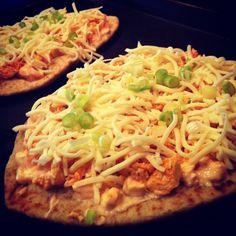 Buffalo Chicken Naan Pizza