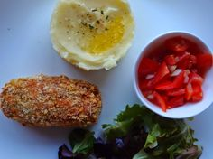 The VegHog: Glamorgan sausages with potato mash and salad