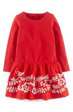 Mini Boden Embroidered Folk Dress (Toddler Girls, Little Girls & Big Girls) available at #Nordstrom