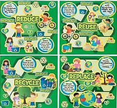 Recycle Learning Make-A-Sticker Scenes are great for teaching how to go green. More At MakingFriends.com