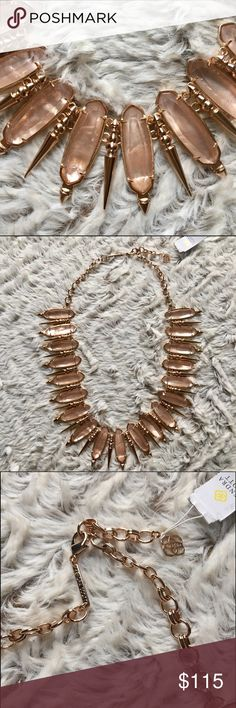 🆕NWT Kendra Scott Gwendolyn Necklace NWT Kendra Scott Necklace in rose gold/peach illusion!   Went a bit overboard on buying a whole bunch of Kendra in a sale so letting more go as I have my faves.  Beautiful, unique color that would be perfect against creams and beige colors.  Will come in generic jewelry pouch.  *Last pic for modeling reference* Kendra Scott Jewelry Necklaces