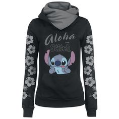 Lilo & Stitch Hooded sweater – Buy now at EMP – More Fan merch Disney Film available online - Unbeatable prices! Lelo And Stitch, Lilo Et Stitch, Lilo And Stitch Hoodie, Lilo And Stitch Quotes, Sweat Shirt, Mode Alternative, Cute Stitch, Disney Outfits, Disney Shirts