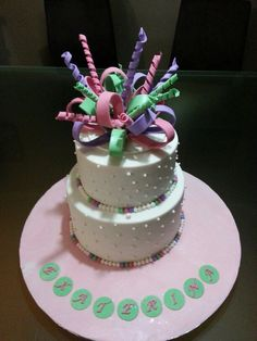 Bows & Streamers Cake
