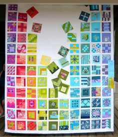 """It's All About the Bass, 70 x 92"""", by Jackie Erickson of Sisters OR.  2015 Sisters Outdoor Quilt Show.  Photo by First Light Designs."""