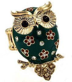 """""""Who"""" """"who"""" loves this stretch owl ring??!!"""