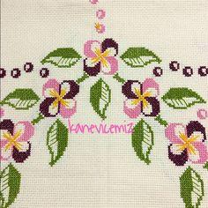 our canoe Sümeyye Saygın on I Beaded Embroidery, Cross Stitch Embroidery, Bordados E Cia, Bargello, Cross Stitch Flowers, My Flower, Needlepoint, Poppies, Needlework
