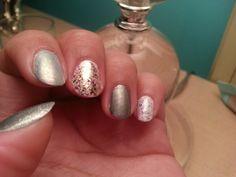Silvers and grays. Metallic Nails, Diamond Earrings, Nail Polish, Silver, Beauty, Jewelry, Nails, Jewlery, Money