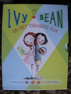 Ivy and Bean Secret Treasure Box IVYB by Annie Barrows 1-3 Surprise PB Books VG